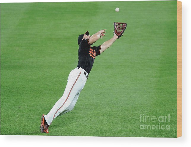 People Wood Print featuring the photograph Chris Davis and Carlos Beltran by Greg Fiume