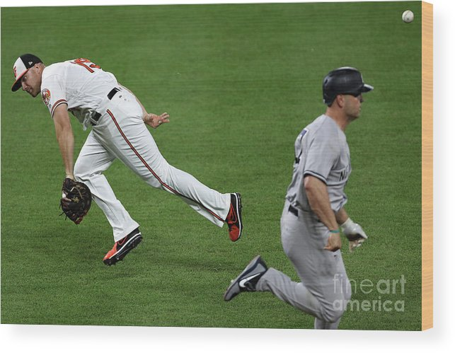 People Wood Print featuring the photograph Chris Davis and Matt Holliday by Patrick Smith