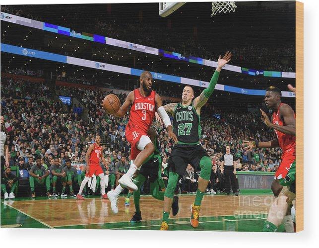 Nba Pro Basketball Wood Print featuring the photograph Chris Paul by Brian Babineau