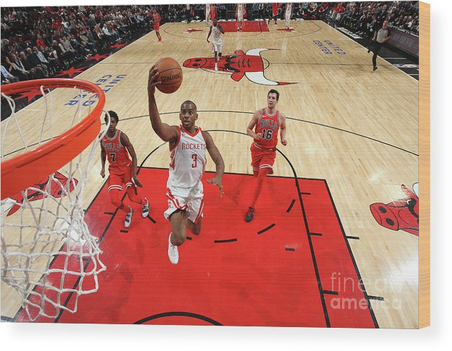 Nba Pro Basketball Wood Print featuring the photograph Chris Paul by Gary Dineen