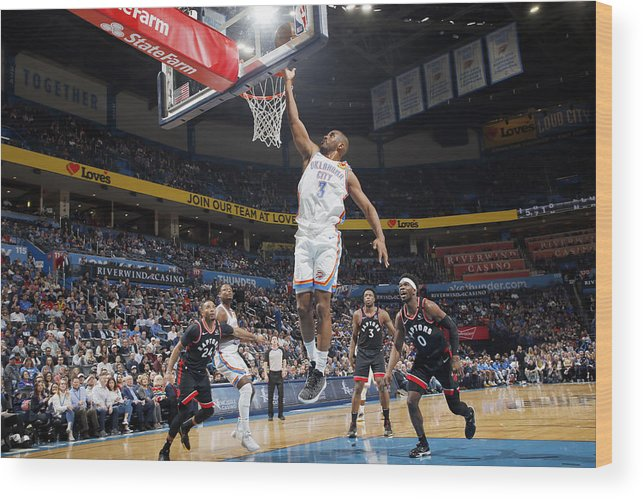 Nba Pro Basketball Wood Print featuring the photograph Chris Paul by Jeff Haynes