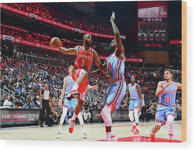 Atlanta Wood Print featuring the photograph Chris Paul by Scott Cunningham