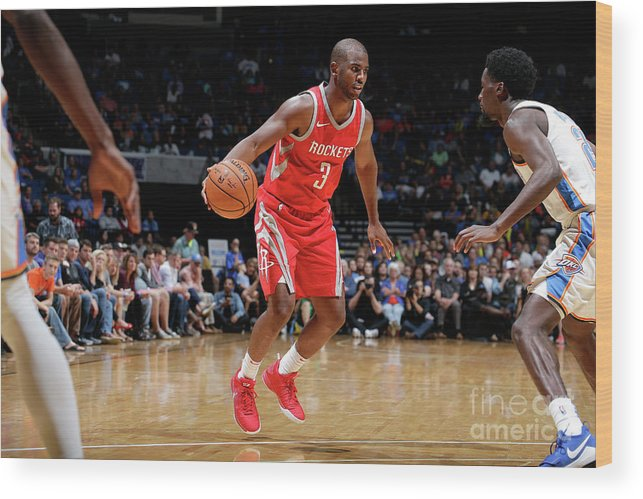 Nba Pro Basketball Wood Print featuring the photograph Chris Paul by Shane Bevel