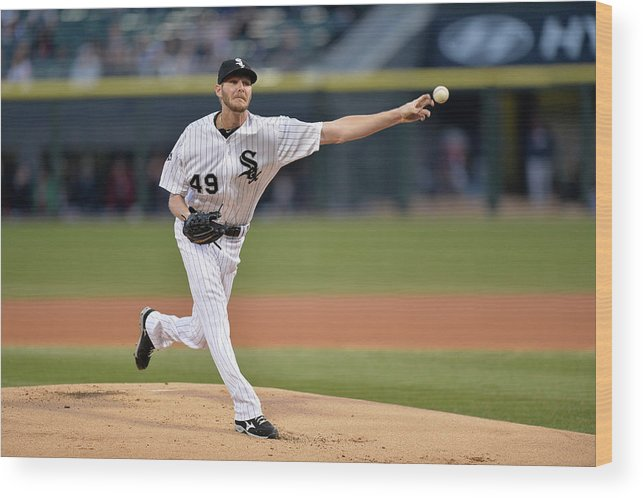 American League Baseball Wood Print featuring the photograph Chris Sale by Brian Kersey