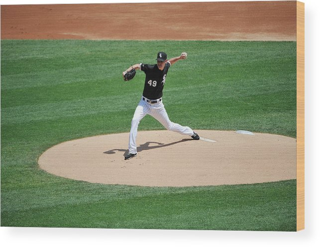 American League Baseball Wood Print featuring the photograph Chris Sale by David Banks