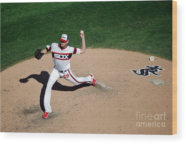 People Wood Print featuring the photograph Chris Sale by Jon Durr
