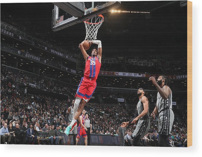 Nba Pro Basketball Wood Print featuring the photograph Christian Wood by Nathaniel S. Butler