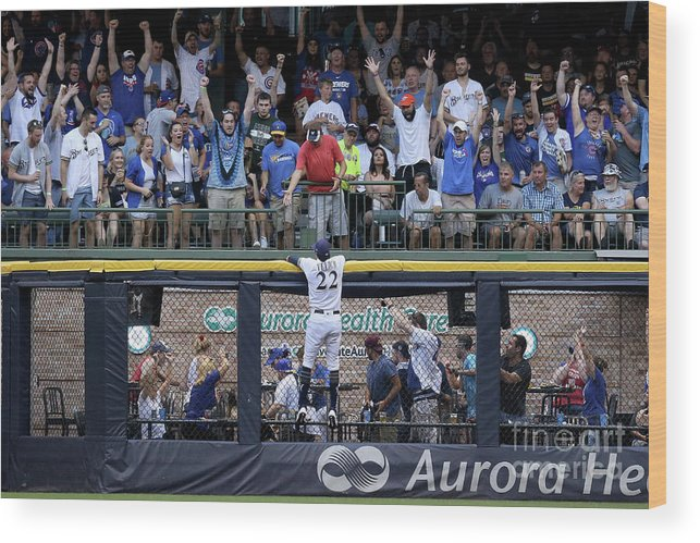 People Wood Print featuring the photograph Christian Yelich and Anthony Rizzo by Dylan Buell