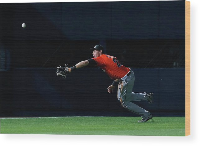 Atlanta Wood Print featuring the photograph Christian Yelich and Jordan Schafer by Kevin C. Cox