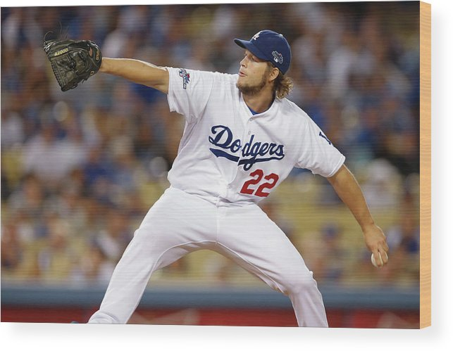 Playoffs Wood Print featuring the photograph Clayton Kershaw by Rob Leiter