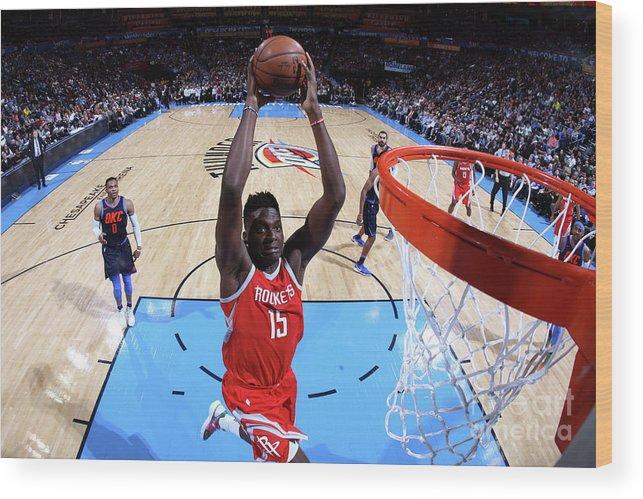 Nba Pro Basketball Wood Print featuring the photograph Clint Capela by Layne Murdoch