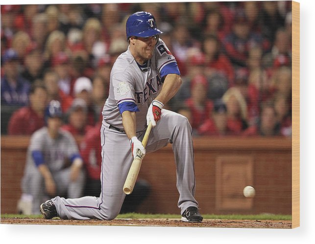 St. Louis Cardinals Wood Print featuring the photograph Colby Lewis by Jamie Squire