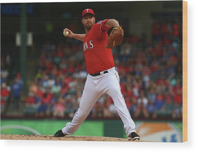 People Wood Print featuring the photograph Colby Lewis by Ronald Martinez