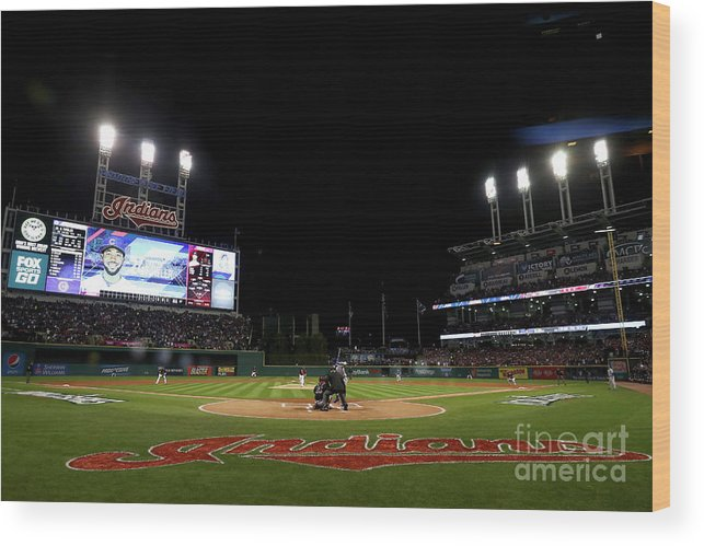 People Wood Print featuring the photograph Corey Kluber by Elsa