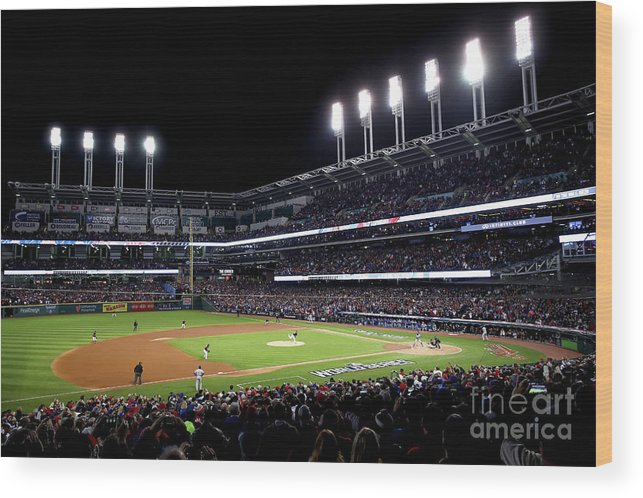 People Wood Print featuring the photograph Corey Kluber by Ezra Shaw