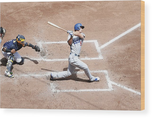 People Wood Print featuring the photograph Corey Seager by Joe Robbins