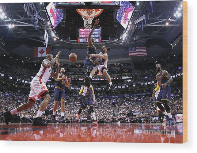 Playoffs Wood Print featuring the photograph Cory Joseph by Mark Blinch