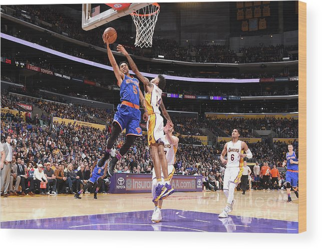 Nba Pro Basketball Wood Print featuring the photograph Courtney Lee by Andrew D. Bernstein