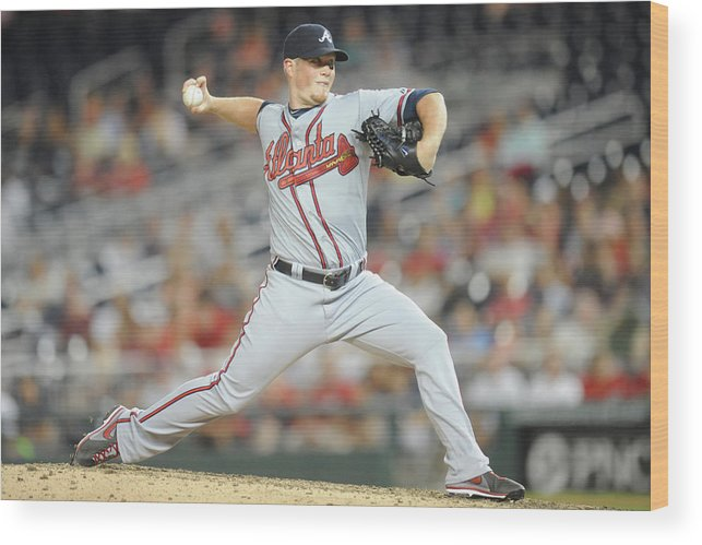 Ninth Inning Wood Print featuring the photograph Craig Kimbrel by Mitchell Layton