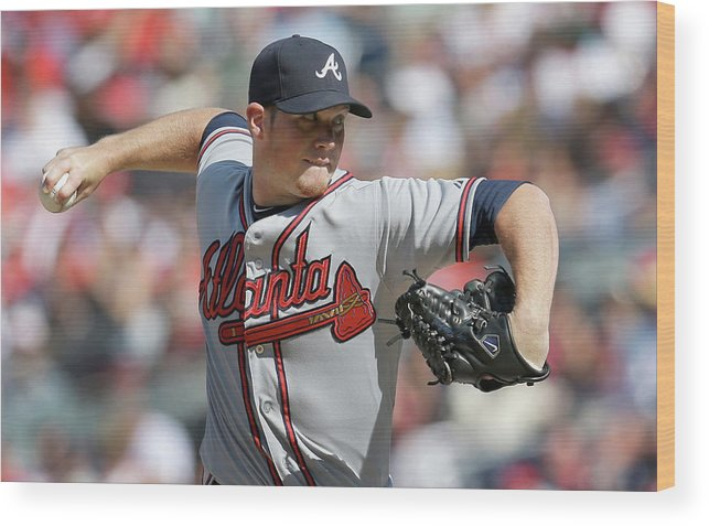 Ninth Inning Wood Print featuring the photograph Craig Kimbrel by Rob Carr