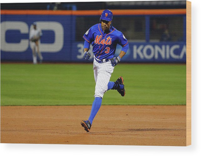 People Wood Print featuring the photograph Curtis Granderson by Al Bello