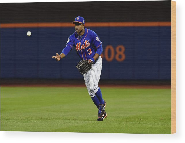 Playoffs Wood Print featuring the photograph Curtis Granderson by Lg Patterson
