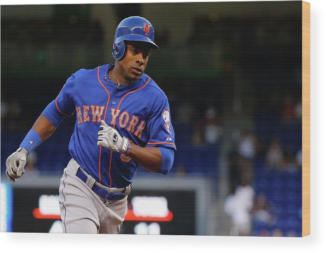 Individual Event Wood Print featuring the photograph Curtis Granderson by Rob Foldy