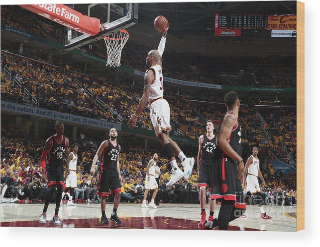 Playoffs Wood Print featuring the photograph Dahntay Jones by Nathaniel S. Butler