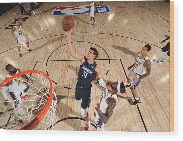 Nba Pro Basketball Wood Print featuring the photograph Dallas Mavericks v Los Angeles Lakers by Jesse D. Garrabrant