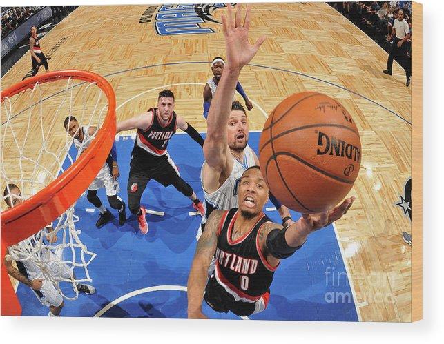 Nba Pro Basketball Wood Print featuring the photograph Damian Lillard by Fernando Medina