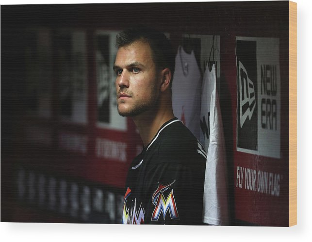 Relief Pitcher Wood Print featuring the photograph Dan Jennings by Christian Petersen