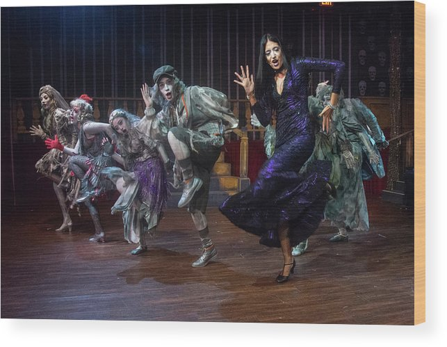Adams Family Wood Print featuring the photograph Dance With The Relatives by Alan D Smith