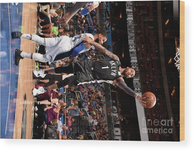 Nba Pro Basketball Wood Print featuring the photograph D'angelo Russell by Gary Bassing