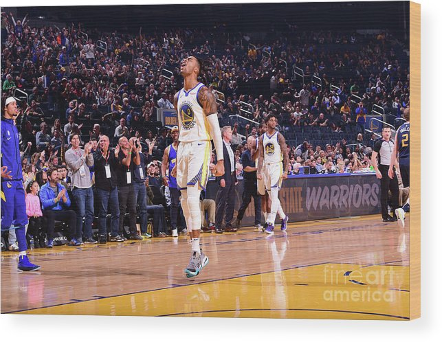 San Francisco Wood Print featuring the photograph D'angelo Russell by Noah Graham