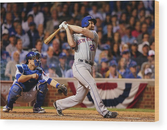People Wood Print featuring the photograph Daniel Murphy and Fernando Rodney by Elsa