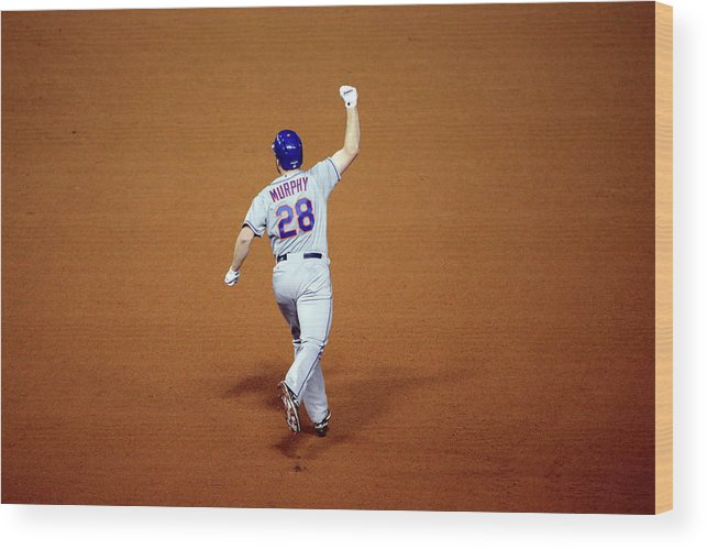 Daniel Murphy - Baseball Player Wood Print featuring the photograph Daniel Murphy and Fernando Rodney by Jon Durr