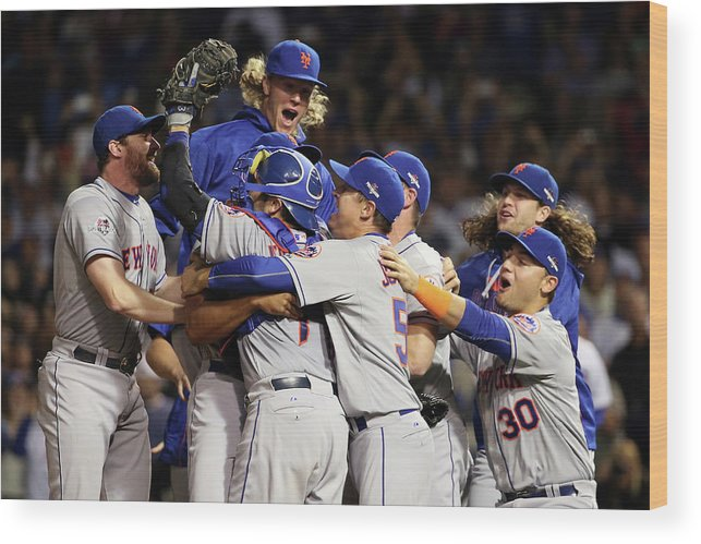 People Wood Print featuring the photograph Daniel Murphy and Noah Syndergaard by Jonathan Daniel