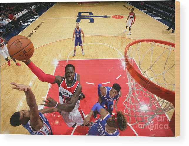 Nba Pro Basketball Wood Print featuring the photograph Daniel Ochefu by Ned Dishman