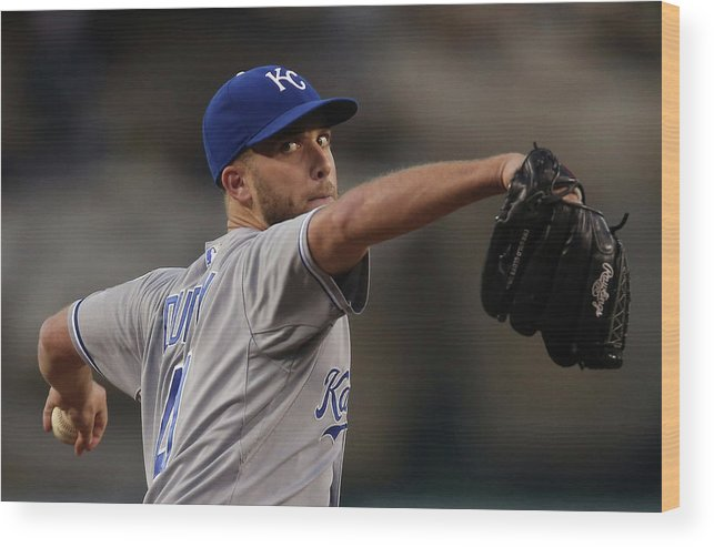 Second Inning Wood Print featuring the photograph Danny Duffy by Jeff Gross