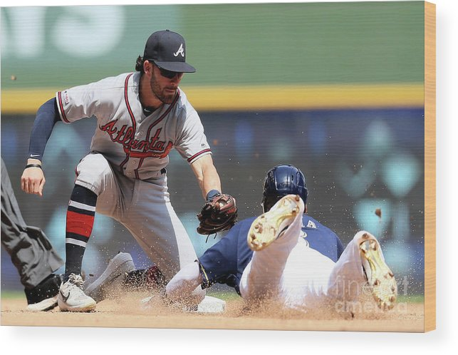 People Wood Print featuring the photograph Dansby Swanson and Orlando Arcia by Dylan Buell