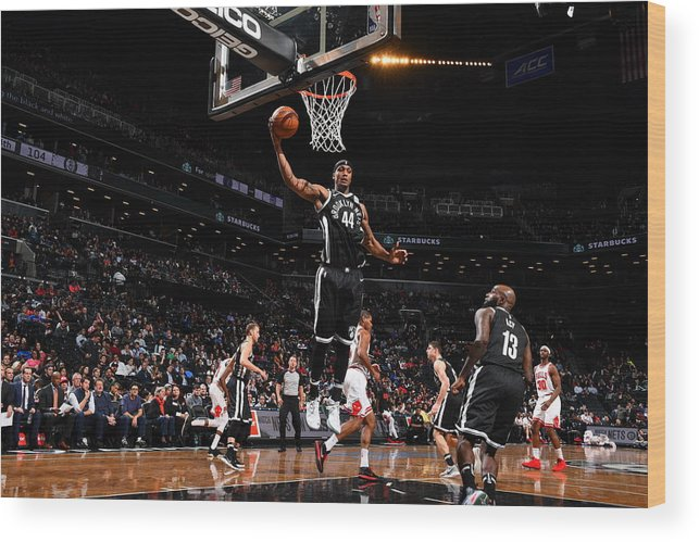 Nba Pro Basketball Wood Print featuring the photograph Dante Cunningham and Drazen Petrovic by Jesse D. Garrabrant