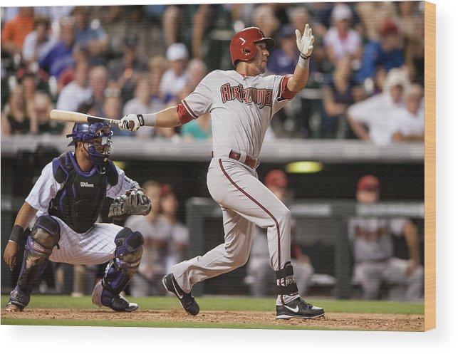 National League Baseball Wood Print featuring the photograph David Peralta by Dustin Bradford