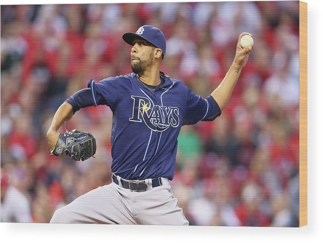Great American Ball Park Wood Print featuring the photograph David Price by Andy Lyons