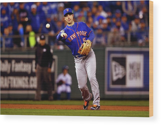 Second Inning Wood Print featuring the photograph David Wright by Jamie Squire