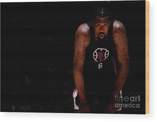 Nba Pro Basketball Wood Print featuring the photograph Deandre Jordan by Bart Young