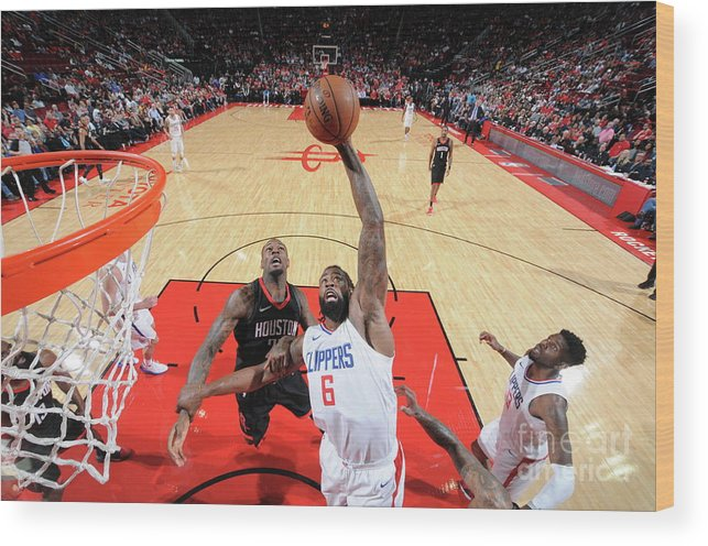 Nba Pro Basketball Wood Print featuring the photograph Deandre Jordan by Bill Baptist
