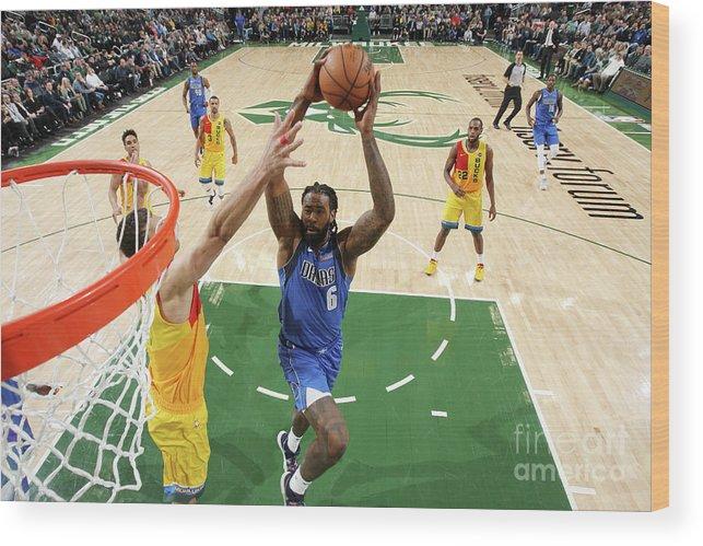 Nba Pro Basketball Wood Print featuring the photograph Deandre Jordan by Gary Dineen