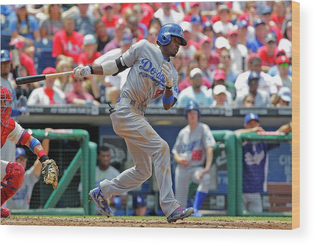 Second Inning Wood Print featuring the photograph Dee Gordon by Hunter Martin