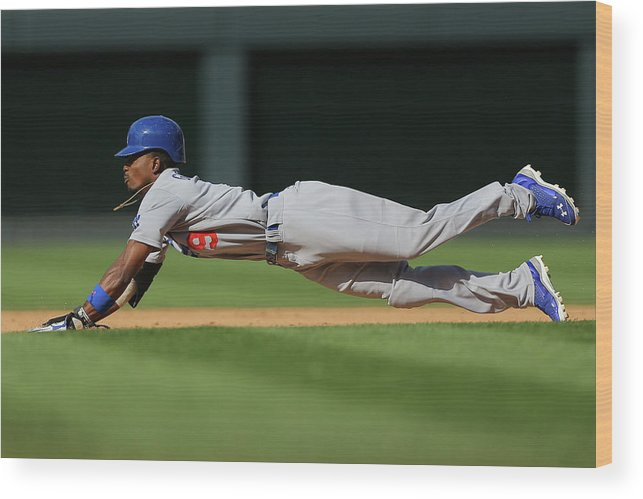 Los Angeles Dodgers Wood Print featuring the photograph Dee Gordon by Justin Edmonds