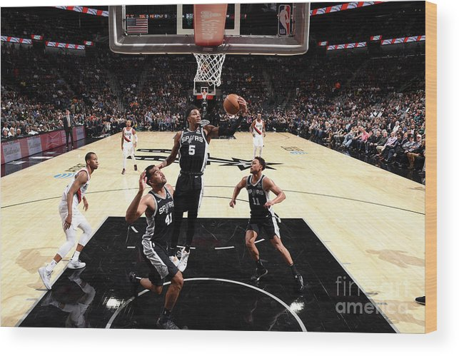 Nba Pro Basketball Wood Print featuring the photograph Dejounte Murray by Garrett Ellwood